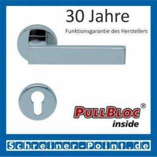 Scoop Quadra PullBloc Rundrosettengarnitur Rosette Edelstahl poliert - Vorschau 2