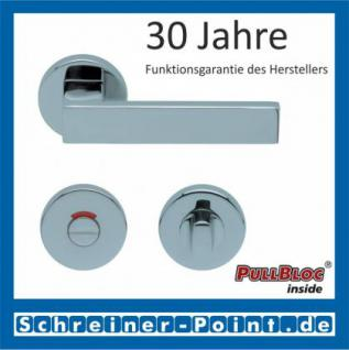 Scoop Quadra PullBloc Rundrosettengarnitur Rosette Edelstahl poliert - Vorschau 4