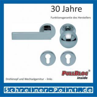 Scoop Quadra PullBloc Rundrosettengarnitur Rosette Edelstahl poliert - Vorschau 5