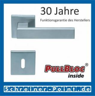 Scoop Quadra quadrat PullBloc Quadratrosettengarnitur, Rosette Edelstahl matt