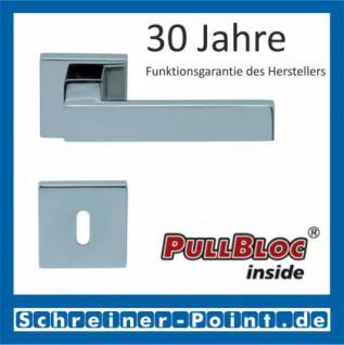 Scoop Quadra quadrat PullBloc Quadratrosettengarnitur, Rosette Edelstahl poliert - Vorschau 1