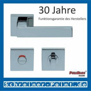 Scoop Quadra quadrat PullBloc Quadratrosettengarnitur, Rosette Edelstahl poliert - Vorschau 4