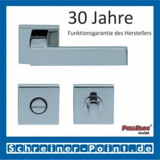 Scoop Quadra quadrat PullBloc Quadratrosettengarnitur, Rosette Edelstahl poliert - Vorschau 3
