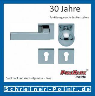Scoop Quadra quadrat PullBloc Quadratrosettengarnitur, Rosette Edelstahl poliert - Vorschau 5