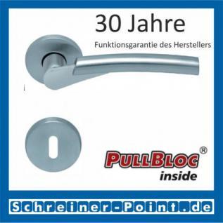 Scoop Rocket PullBloc Rundrosettengarnitur, verchromt/nickelmatt, Rosette Edelstahl matt