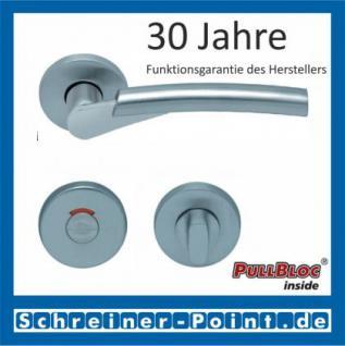 Scoop Rocket PullBloc Rundrosettengarnitur, verchromt/nickelmatt, Rosette Edelstahl matt - Vorschau 4