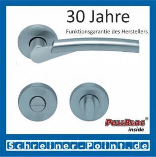 Scoop Rocket II PullBloc Rundrosettengarnitur, Edelstahl poliert/Edelstahl matt, Rosette Edelstahl matt - Vorschau 3