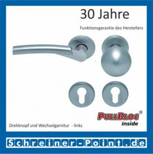 Scoop Rocket II PullBloc Rundrosettengarnitur, Edelstahl poliert/Edelstahl matt, Rosette Edelstahl matt - Vorschau 5