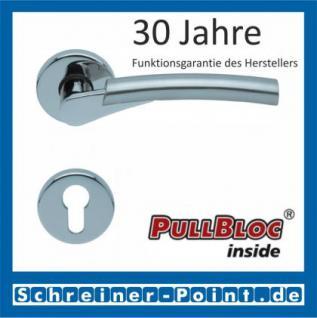 Scoop Rocket PullBloc Rundrosettengarnitur, verchromt/nickelmatt, Rosette Edelstahl poliert - Vorschau 2
