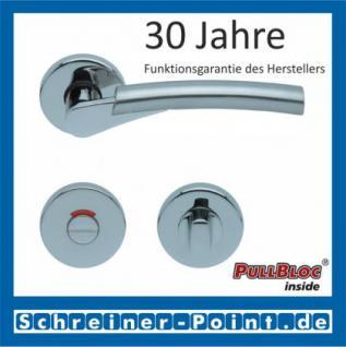Scoop Rocket PullBloc Rundrosettengarnitur, verchromt/nickelmatt, Rosette Edelstahl poliert - Vorschau 4