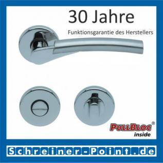 Scoop Rocket PullBloc Rundrosettengarnitur, verchromt/nickelmatt, Rosette Edelstahl poliert - Vorschau 3