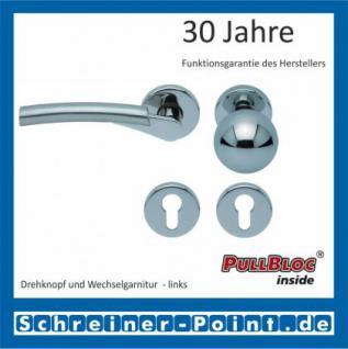 Scoop Rocket PullBloc Rundrosettengarnitur, verchromt/nickelmatt, Rosette Edelstahl poliert - Vorschau 5