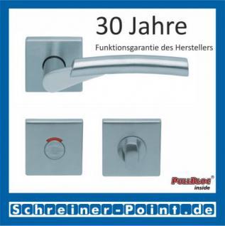 Scoop Rocket II quadrat PullBloc Quadratrosettengarnitur, Edelstahl poliert/Edelstahl matt, Rosette Edelstahl matt - Vorschau 4