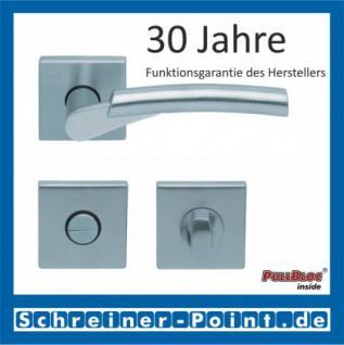 Scoop Rocket II quadrat PullBloc Quadratrosettengarnitur, Edelstahl poliert/Edelstahl matt, Rosette Edelstahl matt - Vorschau 3