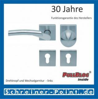 Scoop Rocket II quadrat PullBloc Quadratrosettengarnitur, Edelstahl poliert/Edelstahl matt, Rosette Edelstahl matt - Vorschau 5