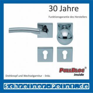 Scoop Rocket quadrat PullBloc Quadratrosettengarnitur, verchromt/nickelmatt, Rosette Edelstahl poliert - Vorschau 5