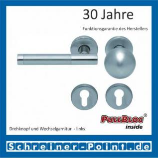 Scoop Roxy II PullBloc Rundrosettengarnitur, Rosette Edelstahl matt - Vorschau 5