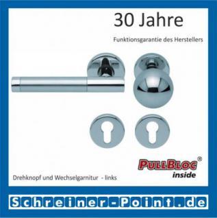 Scoop Roxy II PullBloc Rundrosettengarnitur, Rosette Edelstahl poliert - Vorschau 5