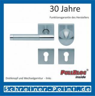 Scoop Roxy II quadrat PullBloc Quadratrosettengarnitur, Rosette Edelstahl matt - Vorschau 5