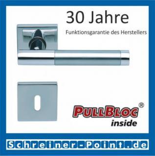 Scoop Roxy II quadrat PullBloc Quadratrosettengarnitur, Rosette Edelstahl poliert - Vorschau 1