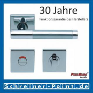Scoop Roxy II quadrat PullBloc Quadratrosettengarnitur, Rosette Edelstahl poliert - Vorschau 4