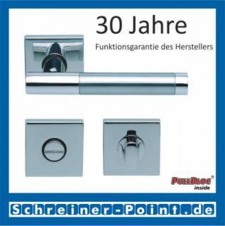 Scoop Roxy II quadrat PullBloc Quadratrosettengarnitur, Rosette Edelstahl poliert - Vorschau 3