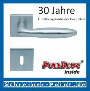 Scoop Sara quadrat PullBloc Quadratrosettengarnitur, Rosette Edelstahl matt