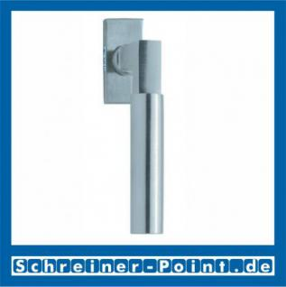 Scoop Bauhaus Fenstergriff Edelstahl matt Rosette eckig