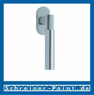 Scoop Bauhaus Fenstergriff Edelstahl matt Rosette oval,101641