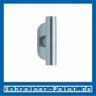 Scoop Cross Fenstergriff Edelstahl matt Rosette oval, 101041