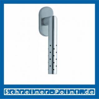 Scoop Lup Fenstergriff Edelstahl matt Rosette oval, 100641