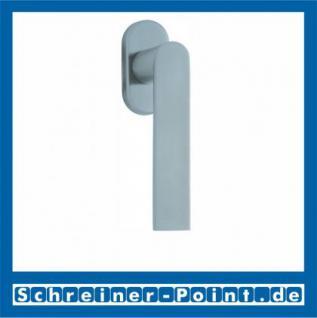 Scoop Semi Fenstergriff Edelstahl matt Rosette oval, 100841
