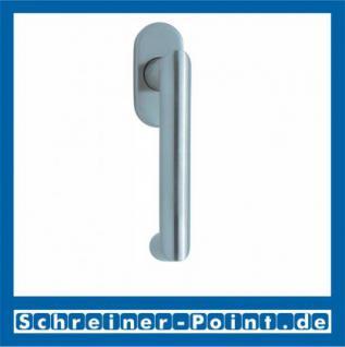 Scoop Thema U Fenstergriff Edelstahl matt Rosette oval, 100941