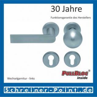Scoop Semi PullBloc Rundrosettengarnitur Rosette Edelstahl matt - Vorschau 5