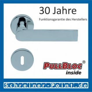 Scoop Semi PullBloc Rundrosettengarnitur Rosette Edelstahl poliert
