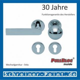 Scoop Semi PullBloc Rundrosettengarnitur Rosette Edelstahl poliert - Vorschau 5