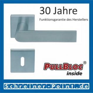 Scoop Semi quadrat PullBloc Quadratrosettengarnitur, Rosette Edelstahl matt