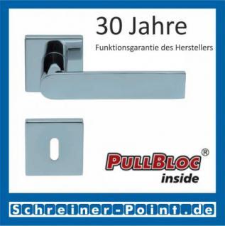 Scoop Semi quadrat PullBloc Quadratrosettengarnitur, Rosette Edelstahl poliert