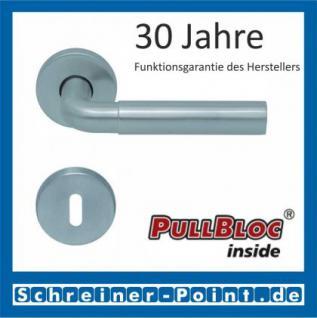 Scoop Skala PullBloc Rundrosettengarnitur, Rosette Edelstahl matt