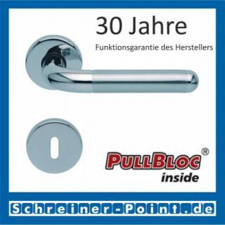 Scoop Tanja PullBloc Rundrosettengarnitur, Edelstahl poliert/Edelstahl matt, Rosette Edelstahl poliert