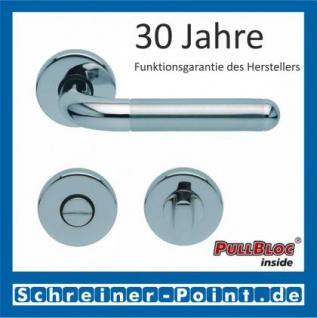 Scoop Tanja PullBloc Rundrosettengarnitur, Edelstahl poliert/Edelstahl matt, Rosette Edelstahl poliert - Vorschau 3