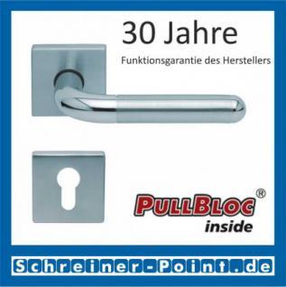 Scoop Tanja quadrat PullBloc Quadratrosettengarnitur, Edelstahl poliert/Edelstahl matt, Rosette Edelstahl matt - Vorschau 2