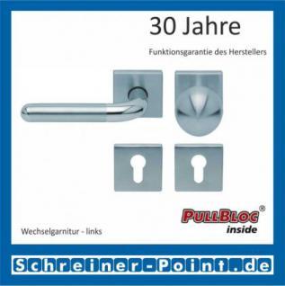 Scoop Tanja quadrat PullBloc Quadratrosettengarnitur, Edelstahl poliert/Edelstahl matt, Rosette Edelstahl matt - Vorschau 5