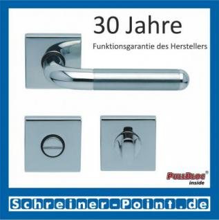 Scoop Tanja quadrat PullBloc Quadratrosettengarnitur, Edelstahl poliert/Edelstahl matt, Rosette Edelstahl poliert - Vorschau 3