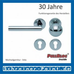 Scoop Thema PullBloc Rundrosettengarnitur, Rosette Edelstahl poliert - Vorschau 5