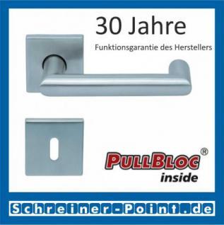 Scoop Thema U quadrat PullBloc Quadratrosettengarnitur, Rosette Edelstahl matt