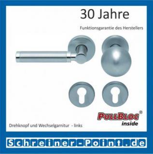 Scoop Ultimo PullBloc Rundrosettengarnitur, Rosette Edelstahl matt - Vorschau 5