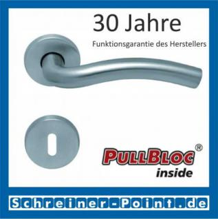 Scoop Wave PullBloc Rundrosettengarnitur, Rosette Edelstahl matt
