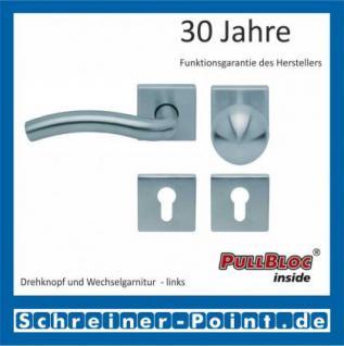 Scoop Wave quadrat PullBloc Quadratrosettengarnitur, Rosette Edelstahl matt - Vorschau 5