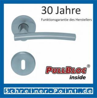 Scoop Wing PullBloc Rundrosettengarnitur, Edelstahl poliert/Edelstahl matt, Rosette Edelstahl matt